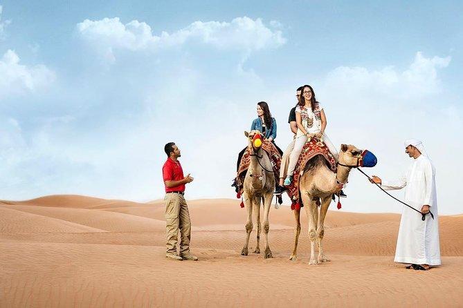 Morning Desert Safari with camel Ride sand Boarding