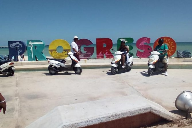 Progreso Scooter Sightseeing and Beach Break Adventure Excursion