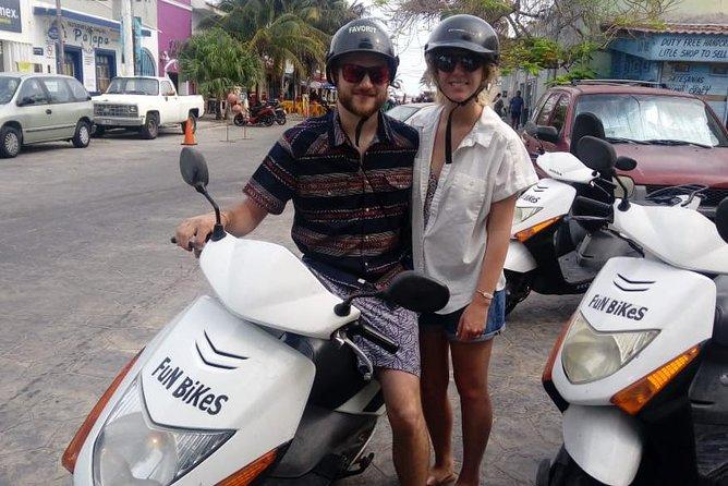 Progreso Scooter Sightseeing and Beach Break Adventure Excursion