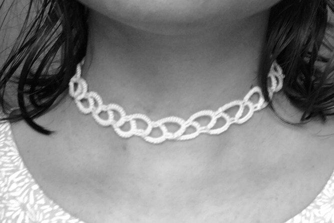 Handmade thread earrings & keyrings