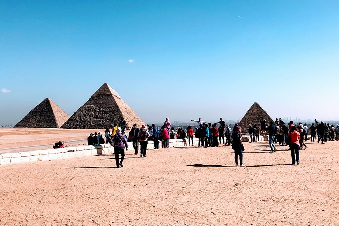 Giza Pyramids, Saqqara step Pyramid and Memphis full day tour