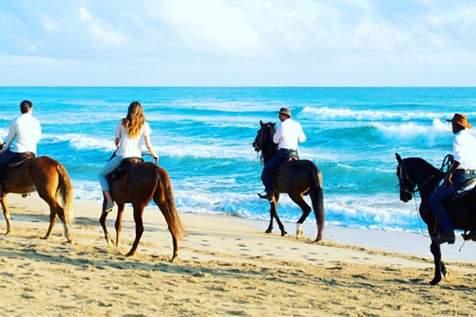Horseback riding on the beach punta cana