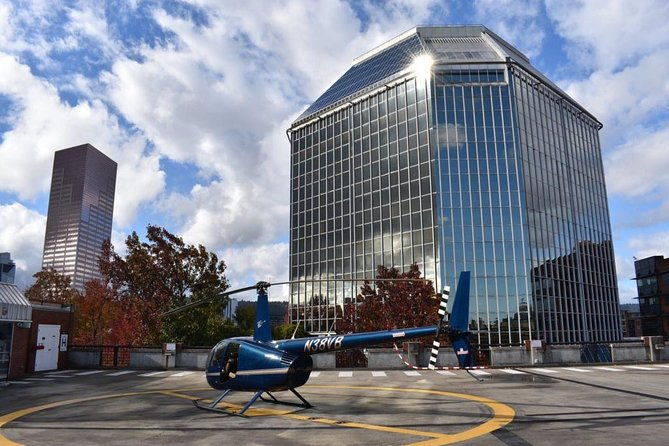 Amazing rooftop heliport located in center of downtown Portland