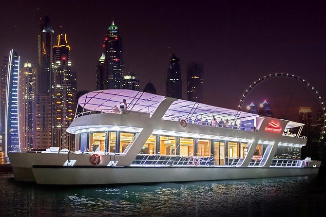 Dubai Marina Dinner Cruise with Unlimited House Beverages