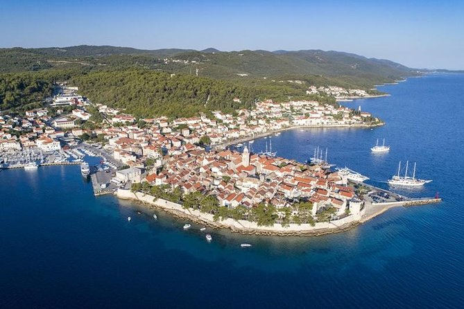 Island of Korcula by motor yacht