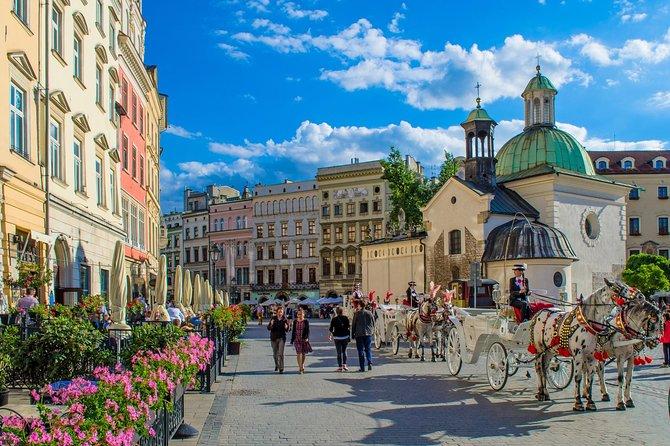 Transfer privado de Praga para Cracóvia com 2 pontos turísticos