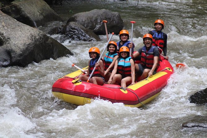 Bali white water rafting includes free hotel transfer & Indonesian buffee lunch