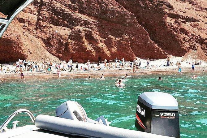 Shared Sunset Cruise from Santorini to Hot Springs&Caldera via Red&Black beach