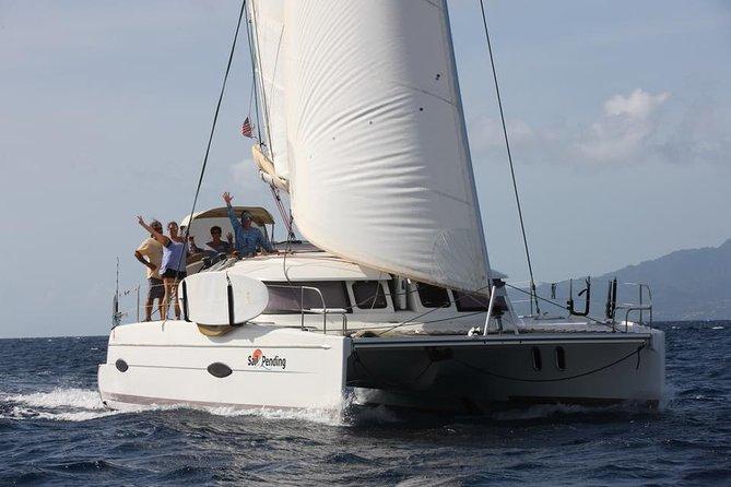Sail along the scenic North Shore of St. John