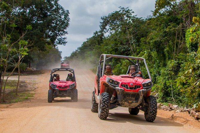 Excursão de buggy pela selva saindo de Playa del Carmen incluindo nado no cenote