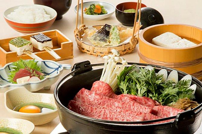 Espectáculo del restaurante robot de Tokio que incluye cena de carne de res y tofu Wagyu