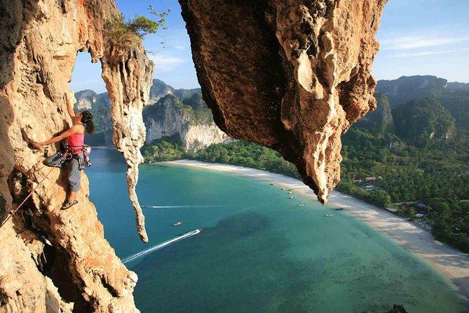 Rock Climbing at Railay Beach Krabi