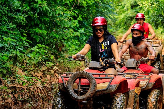 Discover the Jungle wit this adrenaline tour with Atvs Ziplines and a Cenote now