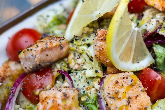 Grilled Salmon w/Vegetables