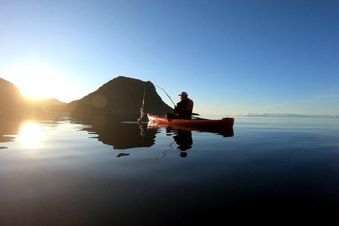 Kayak Fishing Adventure by Mt. Kirkjufell