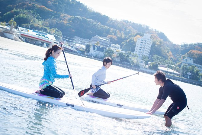 Stand Up Paddleboarding with Beautiful View of Mt Fuji