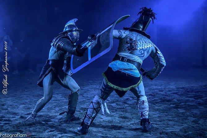 Espectáculo de gladiadores romanos en la Gruppo Storico Romano