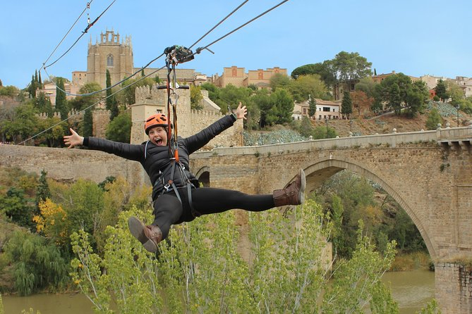 Toledo Zip-Line Experience, Walking tour & Roundtrip Bus Ticket from Madrid