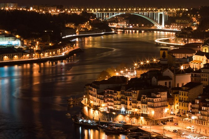 Fado dinner with panoramic night view of Porto