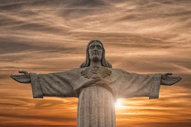 Excursão para pequenos grupos para Cristo Rei e Arrábida, com degustação de vinho, saindo de Lisboa