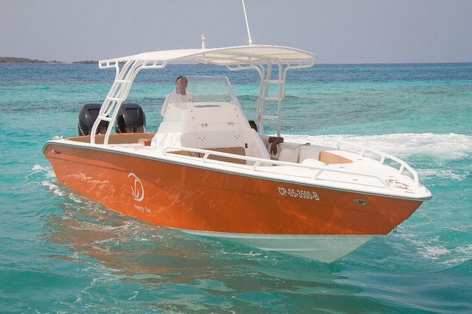 Island Hopping Rosario Islands on a 34ft Private Speedboat with Skipper