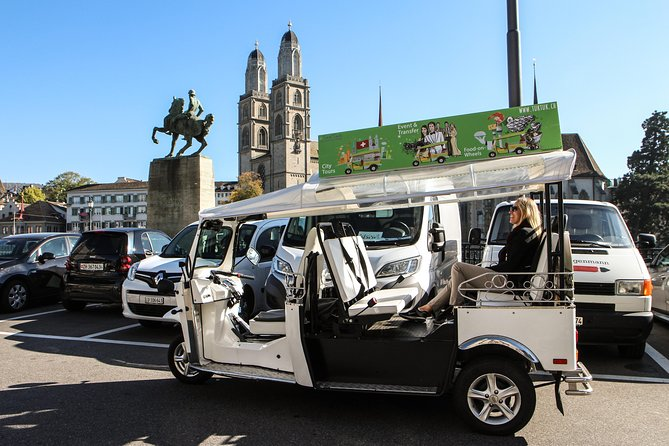 Private Tour: Central Zurich and Surroundings Tour by Electric Tuk Tuk