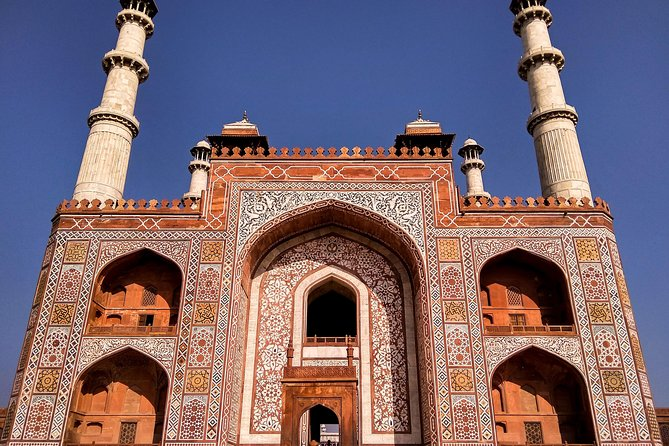 Sikandra Mausoleum of Emperor Akbar the great with Taj Mahal