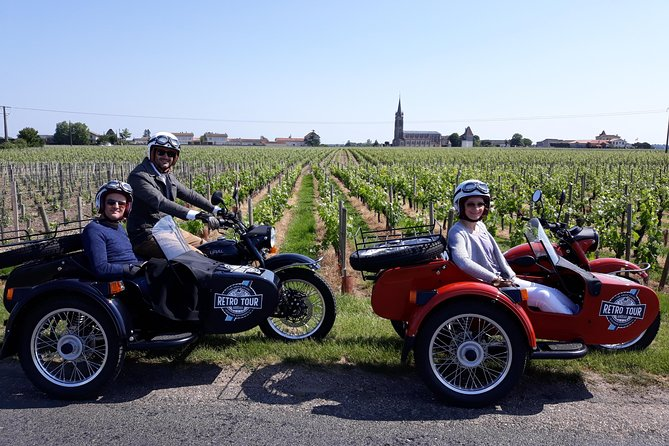 Half-day private tour in Saint-Emilion in a sidecar