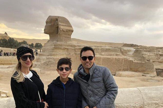 Giza complex pyramids and sphinx tour