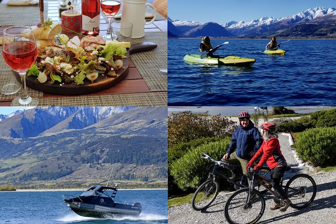Bike, lunch, kayak and boat package