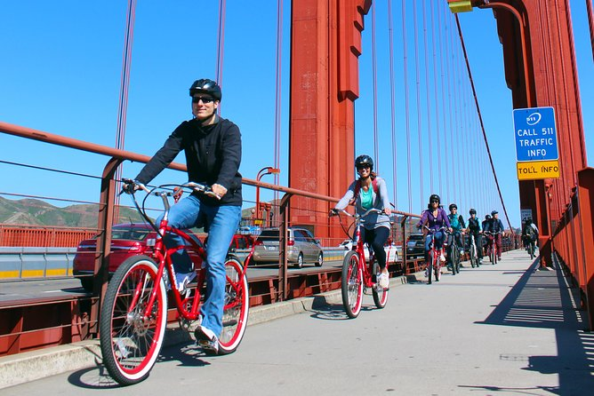 Fiets de Golden Gate Bridge en de Shuttle Tour naar Muir Woods
