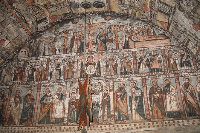 Post-medieval paintings on wooden church walls