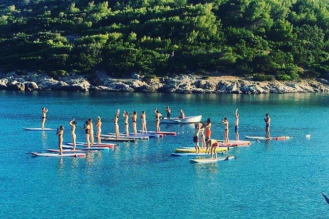 Paddleboard yoga in Milna, Vis island