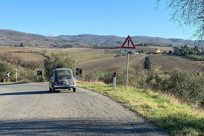 Fiat 500 Tour of the Chianti Roads from San Gimignano