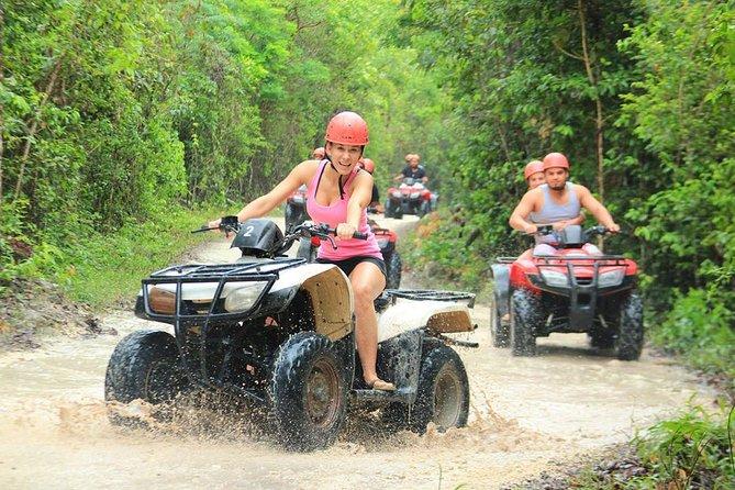 Adrenaline rush with ATV's ( Shared) Zipline and Cenote in Riviera Maya