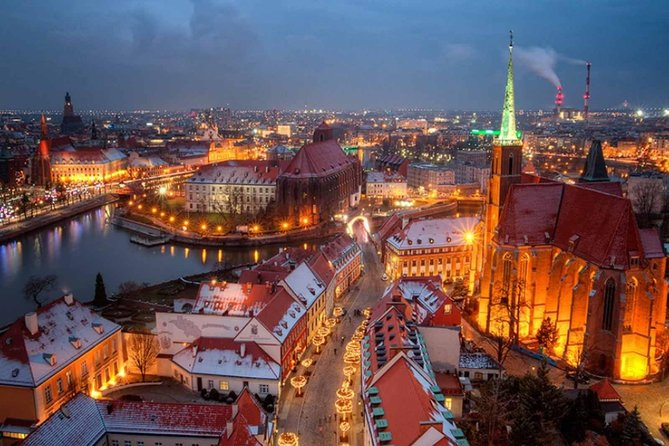 Wroclaw city tour at night, 2 hours (group 1-15 people)