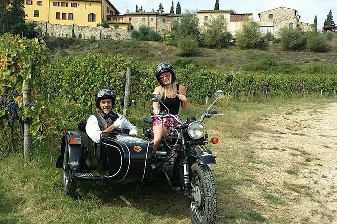 Sidecar tour in Florence and Chianti with wine tasting and lunch