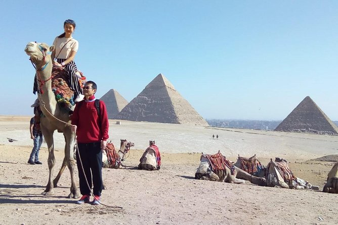 Giza pyramids sphinx valley temple camel riding tours