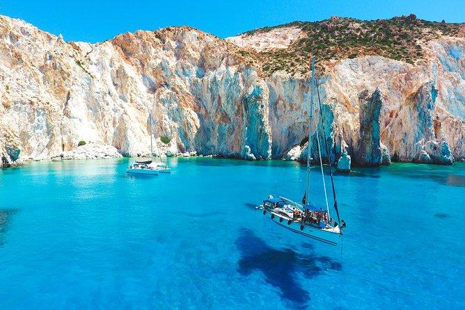 Around Milos and Poliegos Catamaran Cruise