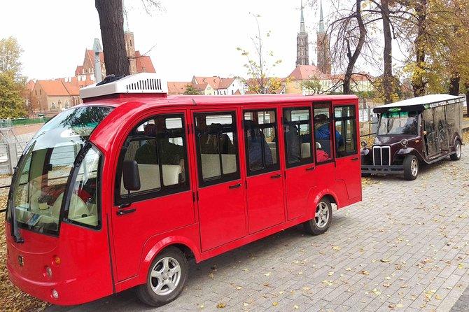 Breslau Rundfahrt mit E-Auto, 2 h (English-Guide) Gruppe 7-12 Personen