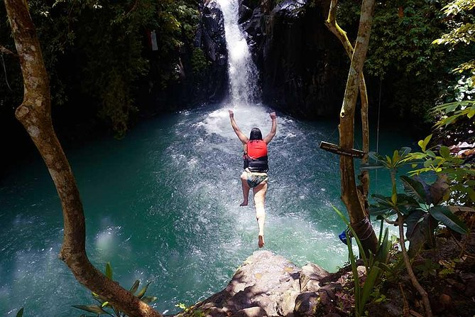 Jumping Sliding at Aling-aling waterfall with hotel transfer