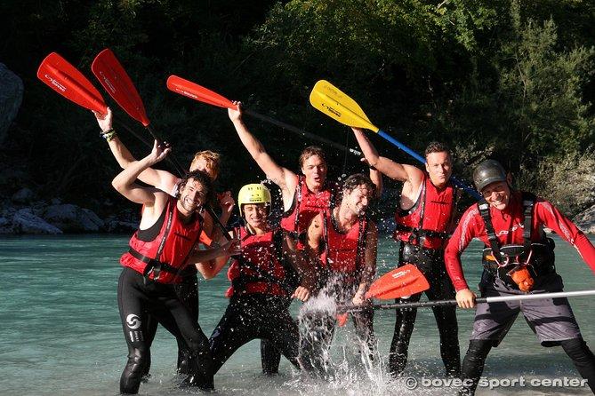 Rafting on Soca river Bovec Slovenia