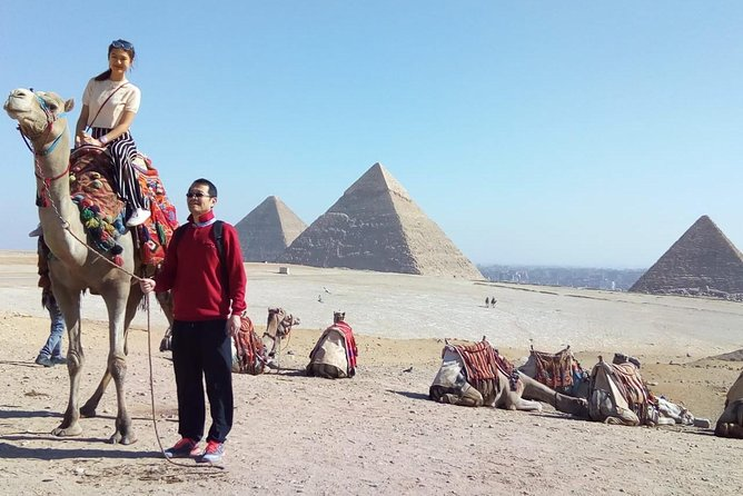 Giza pyramids and Egyptian museum bazaars from Cairo airport