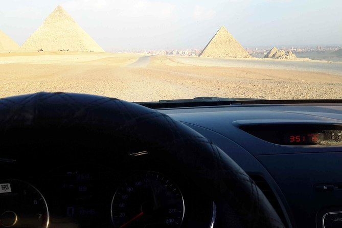 Giza pyramids with just private car and driver no guide