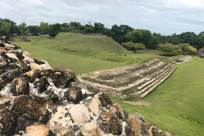 Private Altun Ha Ruins with Rum factory & Belize sign from Belize City