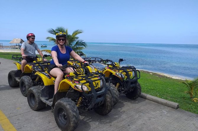 Roatan ATV Bikes Zip Line Monkey/Sloth and Beach Excursion