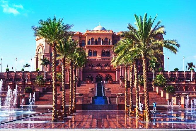 Abu Dhabi Tour with Desert Safari, BBQ, Camel Ride and Sandboarding