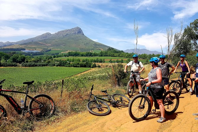 Views of Banghoek valley on Adventureshop E-Bike Tour