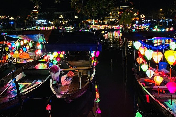 Hoi An Night Market with Hoi an walking Tour , Colourful Lanterns, Boat Ride