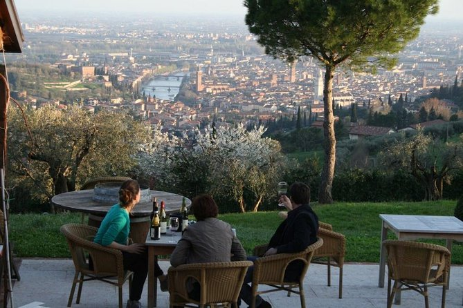 Wine tasting with a view close to Verona